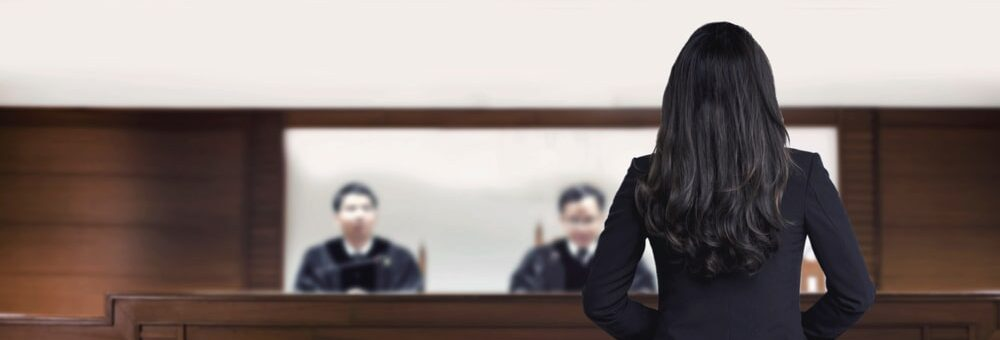 Women dressed for courtroom